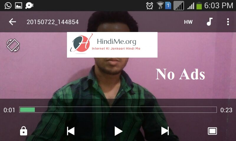 Video Pause Karne Par No Ads