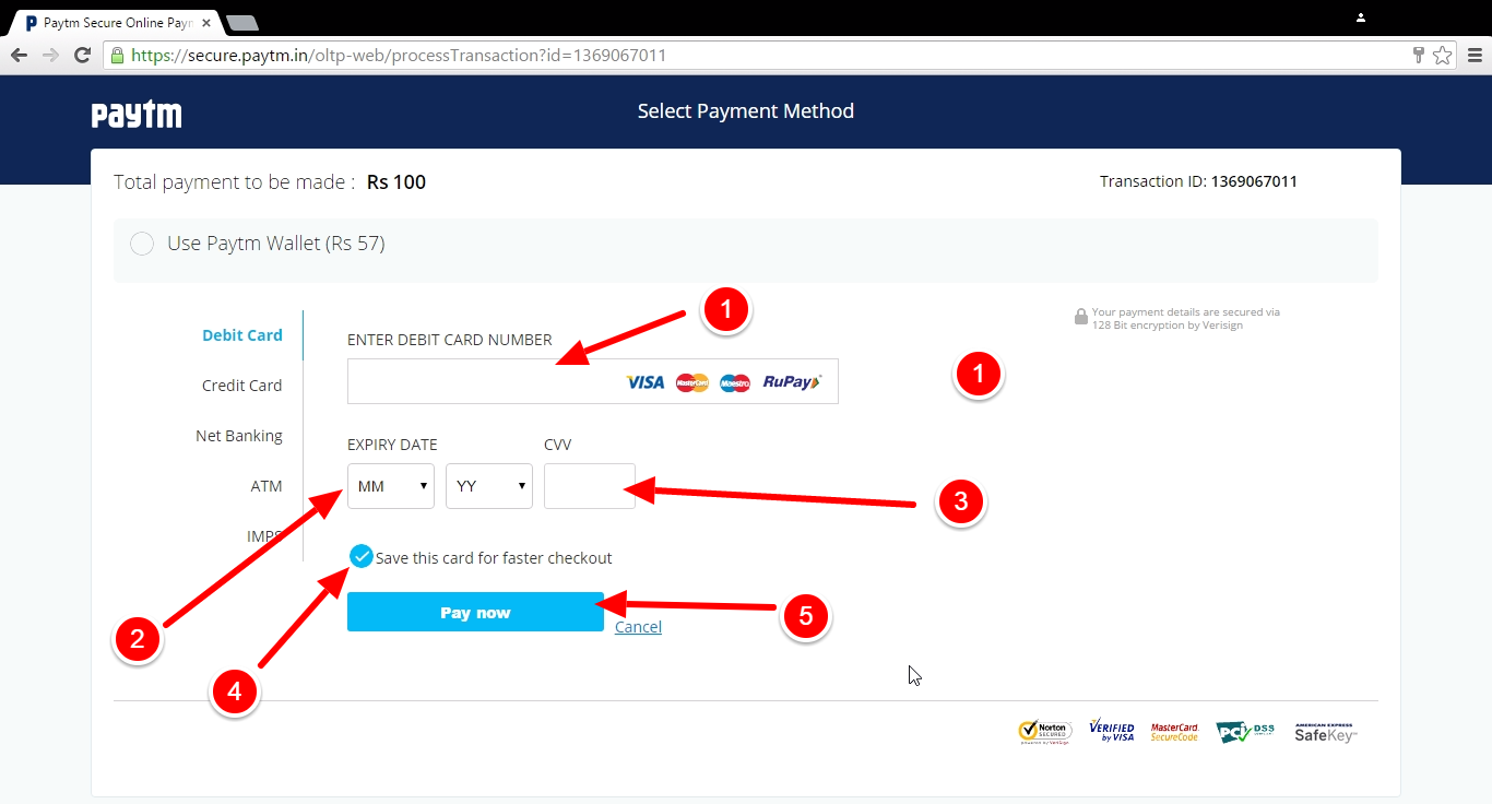ATM ya Debit Card Details Dale