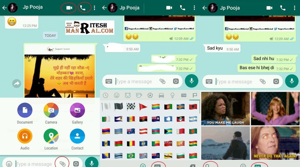 WhatsApp beta separates voice and video call actions